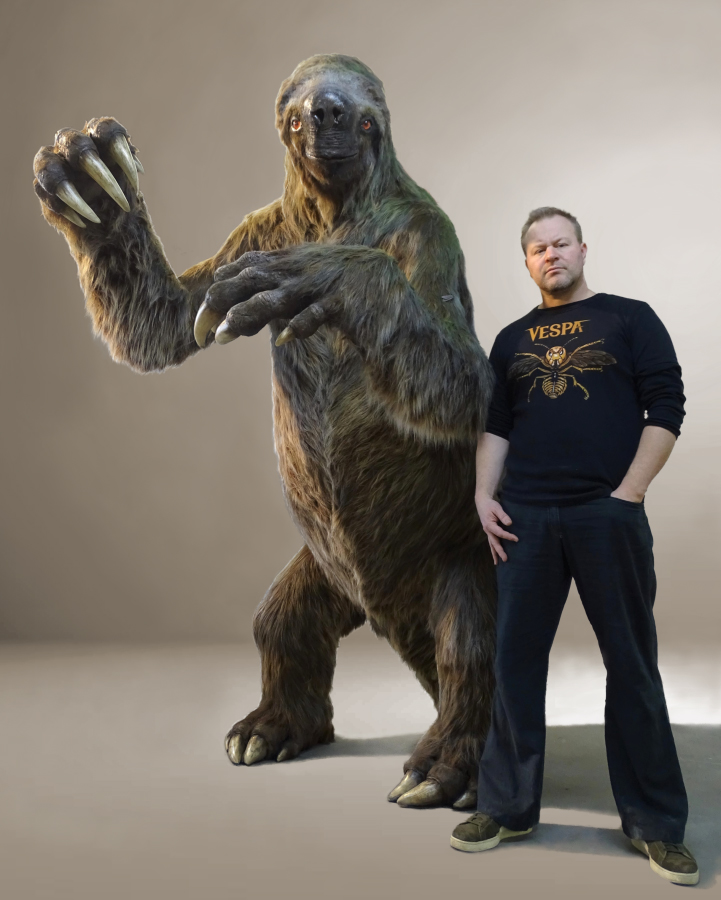 grondluiaard levensgroot paleontologisch verantwoorde paleokunst in opdracht van museum Historyland Hellevoetsluis